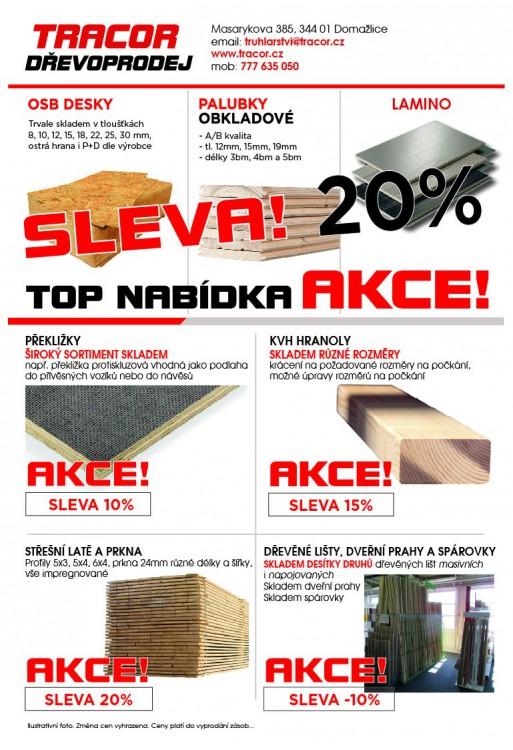 Sleva na dřevěný materiál