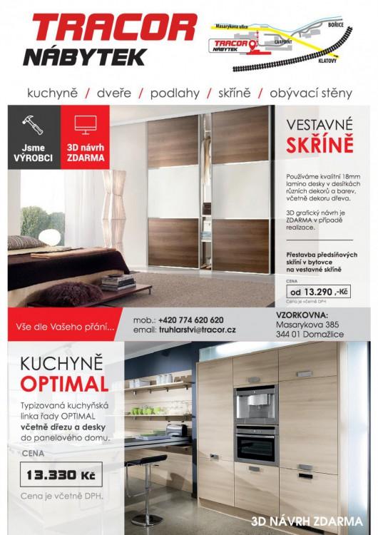Akce na vestavěné skříně a kuchyňské linky OPTIMAL
