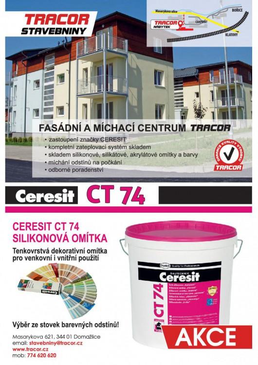 Fasádní a míchací centrum TRACOR<br>a akce na fasády Ceresit