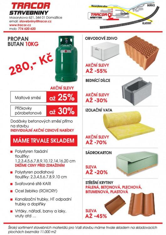 Stavební materiál za akční ceny