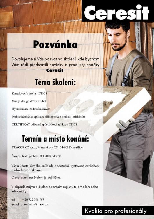 Školení - představení novinek a produktů Ceresit